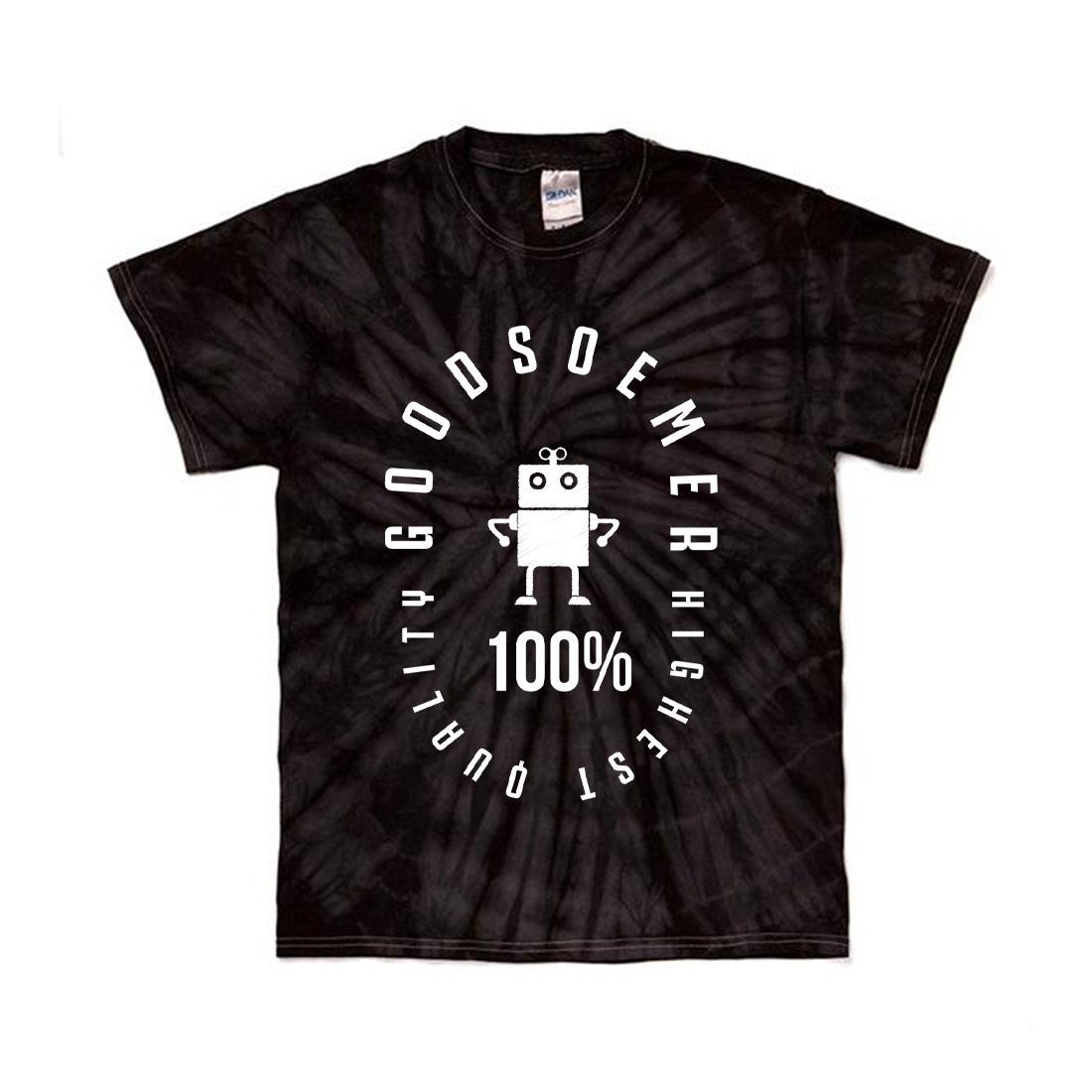 タイダイTシャツ スパイダー染め ブラック