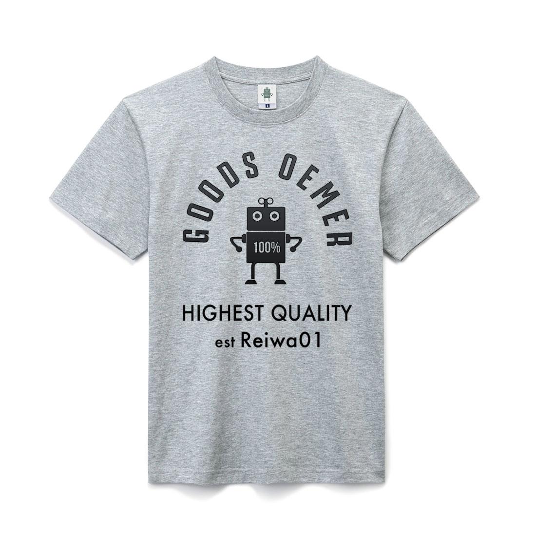 ヘヴィーコットン Tシャツ ライトグレー