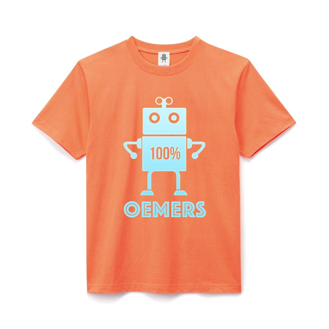 ヘヴィーコットン Tシャツ オレンジ