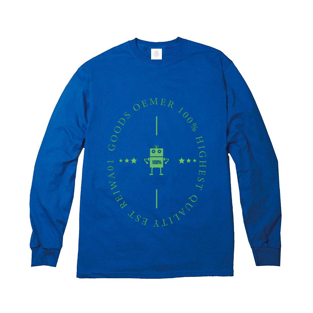 ヘヴィーウェイト ロングTシャツ ブルー