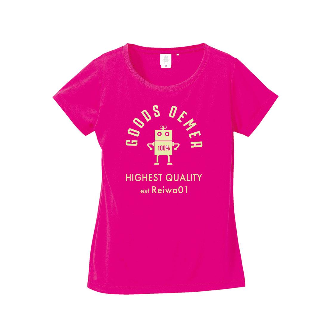 ドライ Tシャツ レディース ピンク