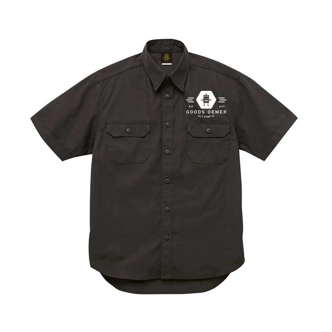 ワークシャツ ブラック