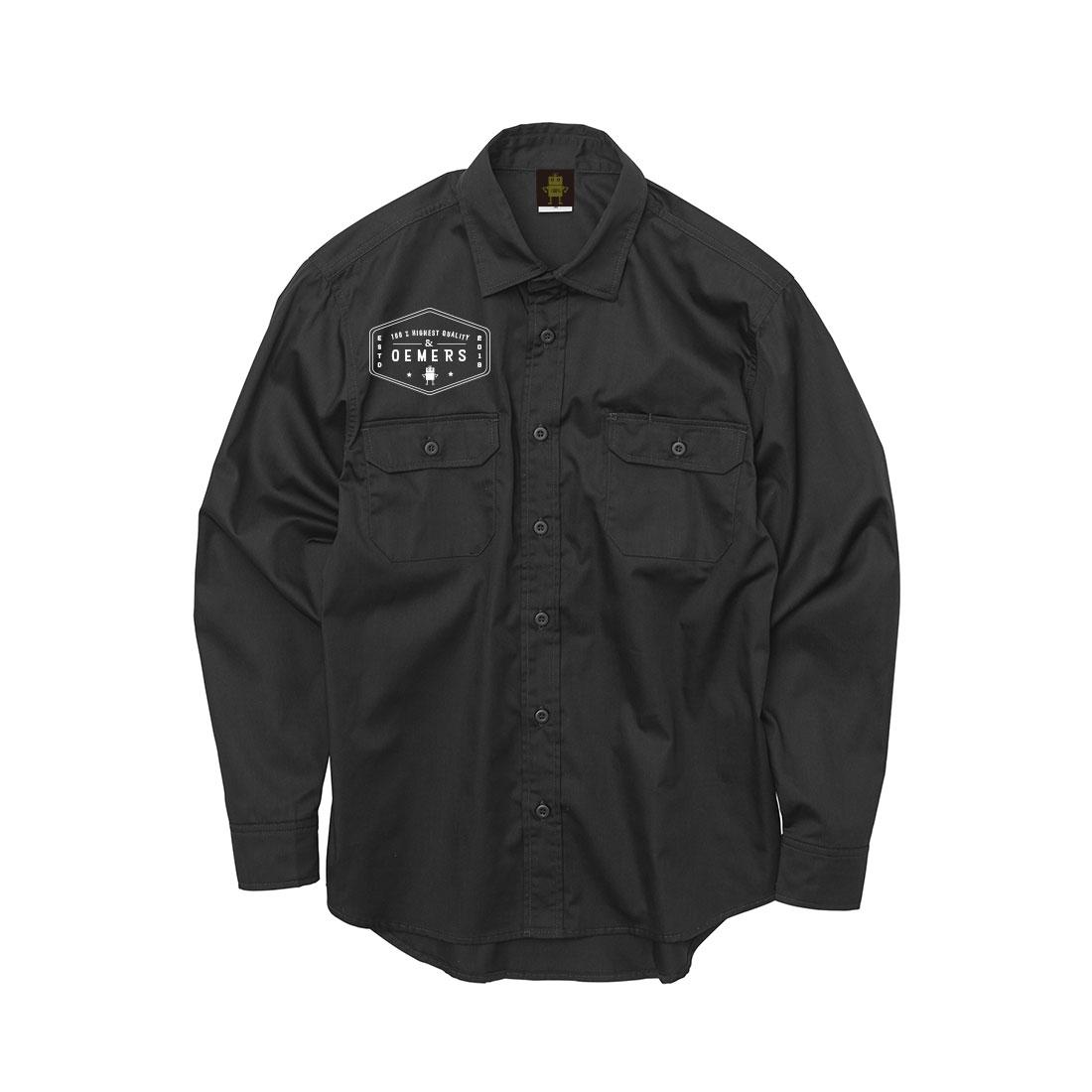 ワークロングシャツ ブラック