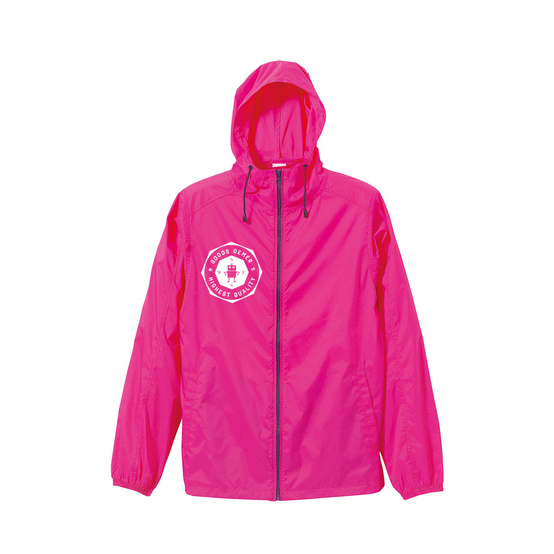 ナイロン ジップジャケット ピンク