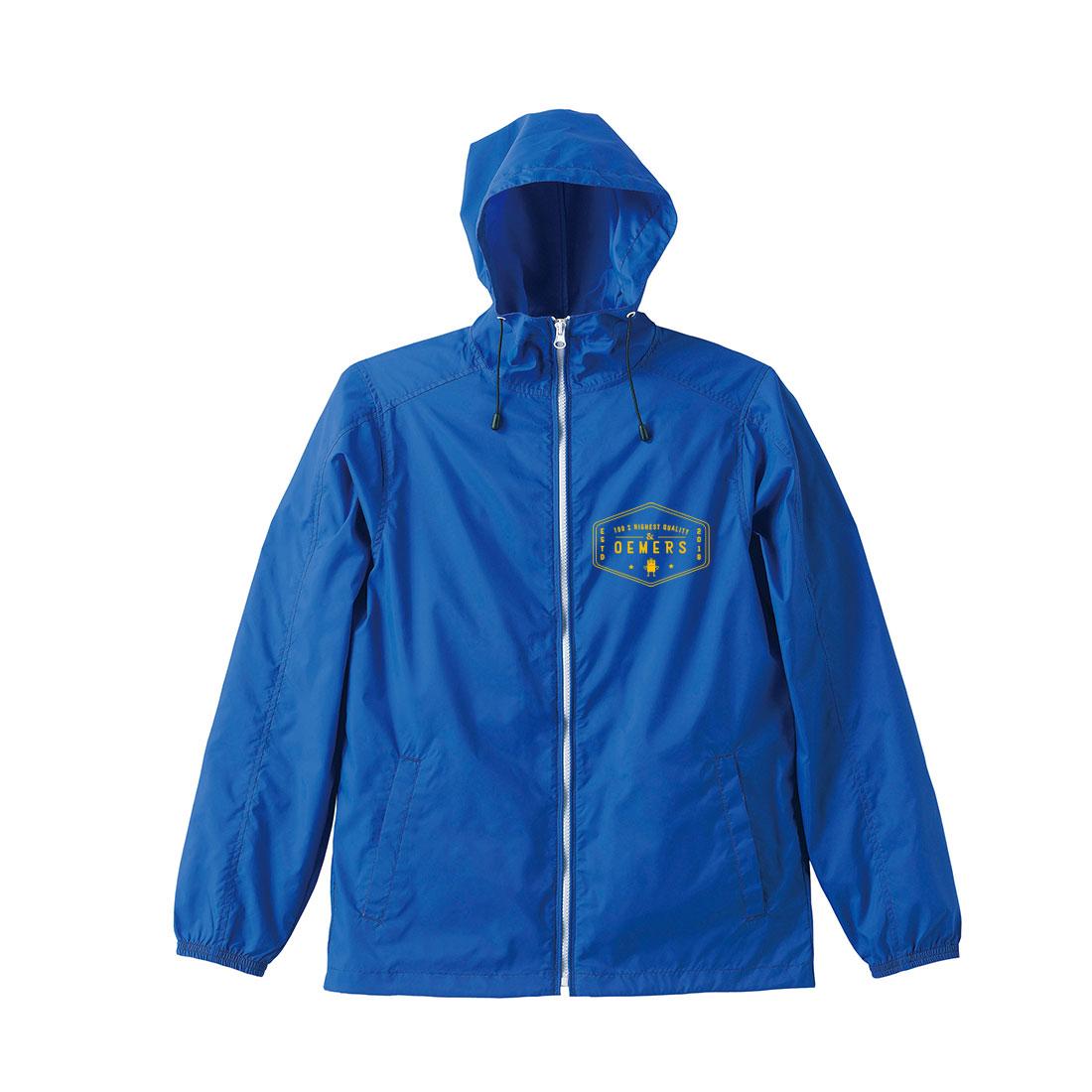 ナイロン ジップジャケット ブルー