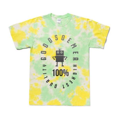 タイダイTシャツ マーブル染め イエロー グリーン