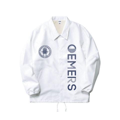 コーチジャケット ホワイト デザイン