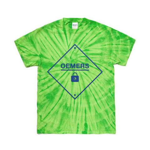 タイダイ Tシャツ スパイダー染め グリーン