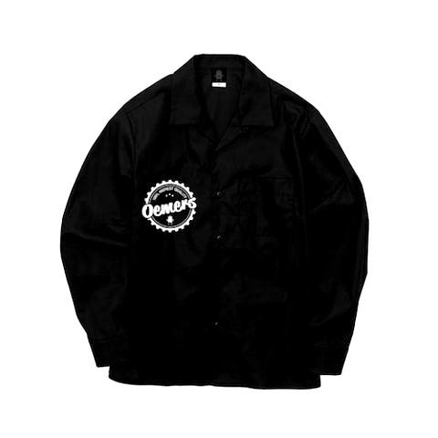 オープンカラーシャツ ブラック