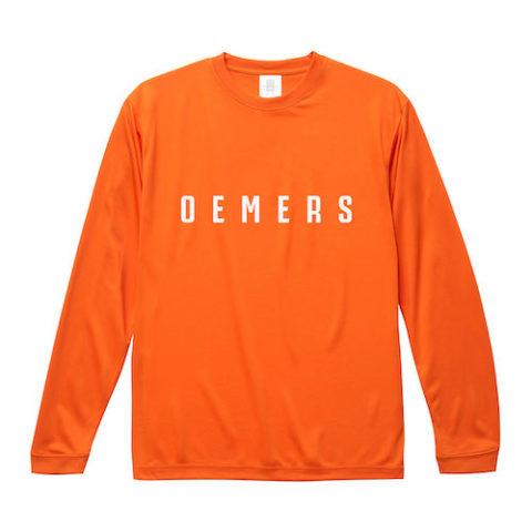 ロングTシャツ オレンジ オリジナル