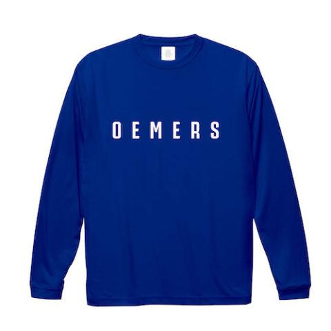 ロングTシャツ ブルー